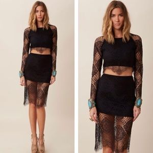 Lace two piece dress